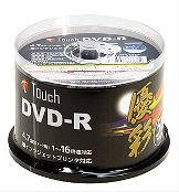 Touch DR47WPW50SP データ用DVD-R 16倍速 ワイドプリンタブル 1個50枚